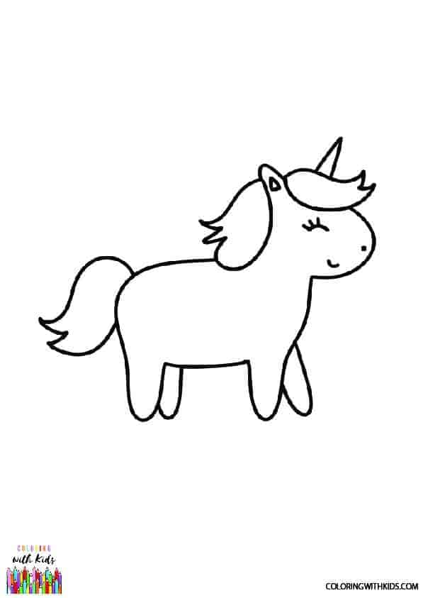 baby unicorn coloring page  coloring with kids