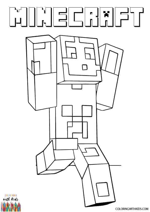 Free Printable Minecraft Steve Coloring Page