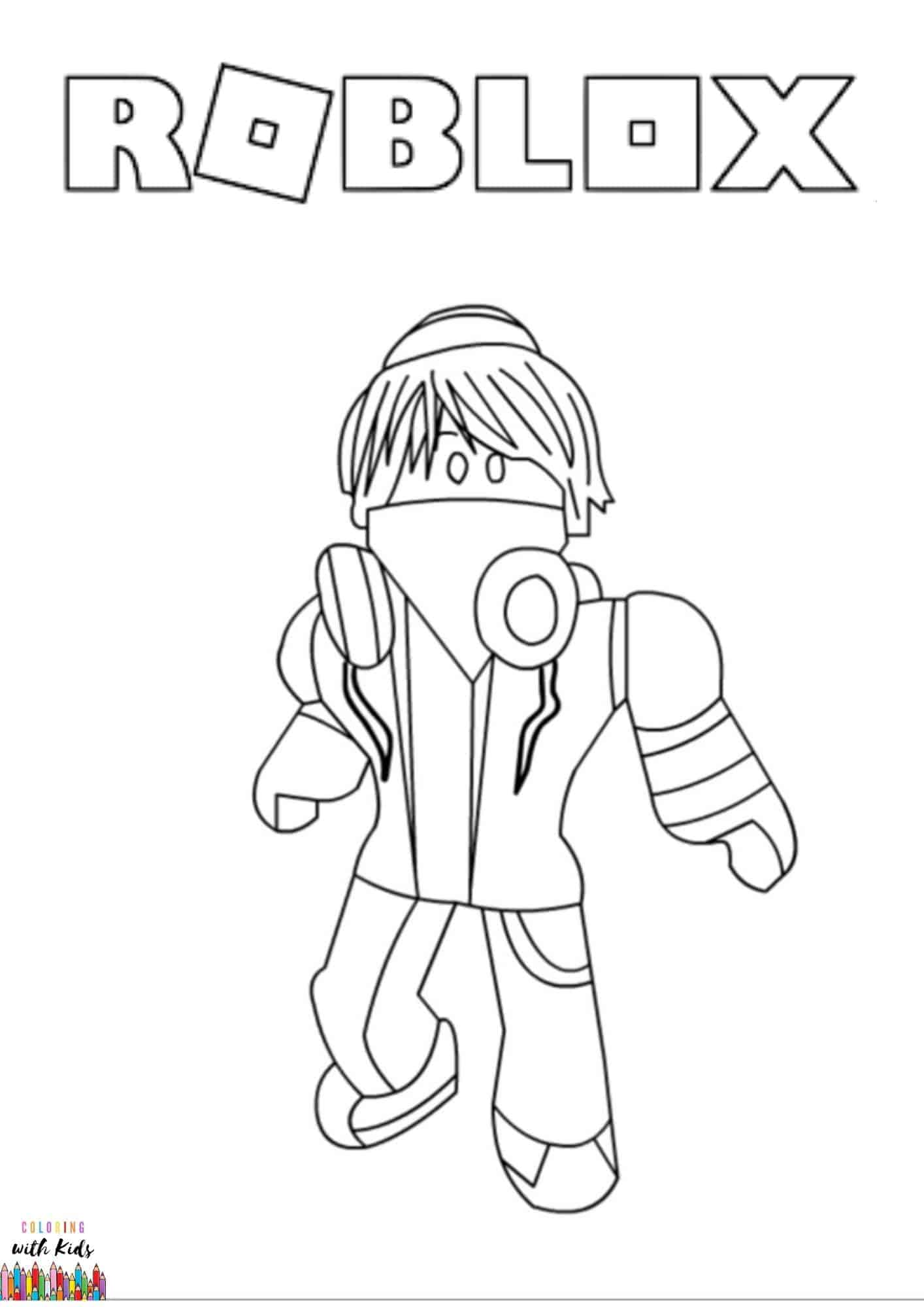 Roblox Avatar Coloring Page Coloringwithkids Com