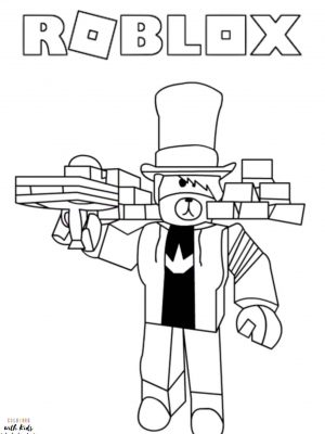 Roblox Bear Avatar Coloring Page