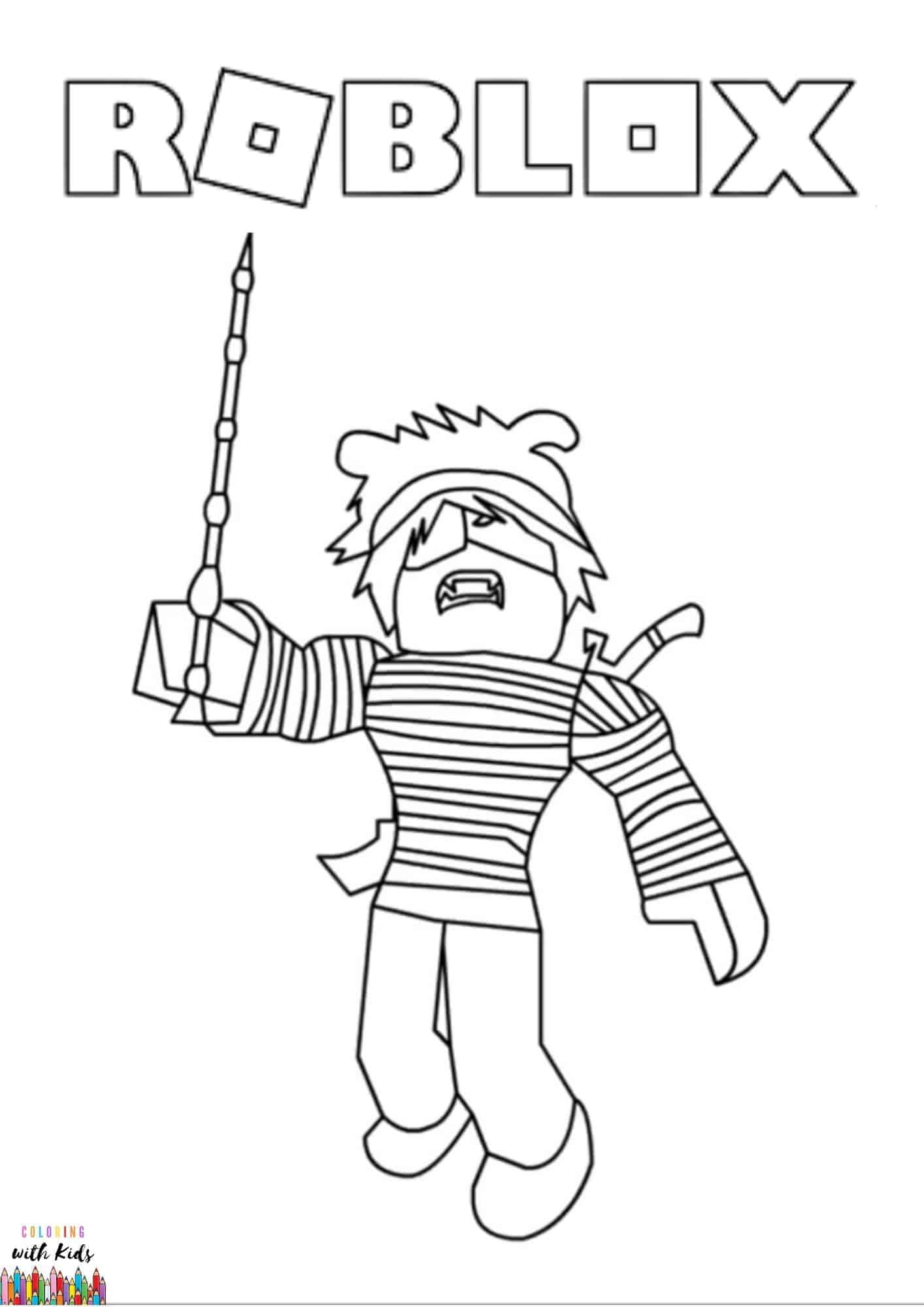 Free Printable Roblox Avatar Roblox Coloring Pages