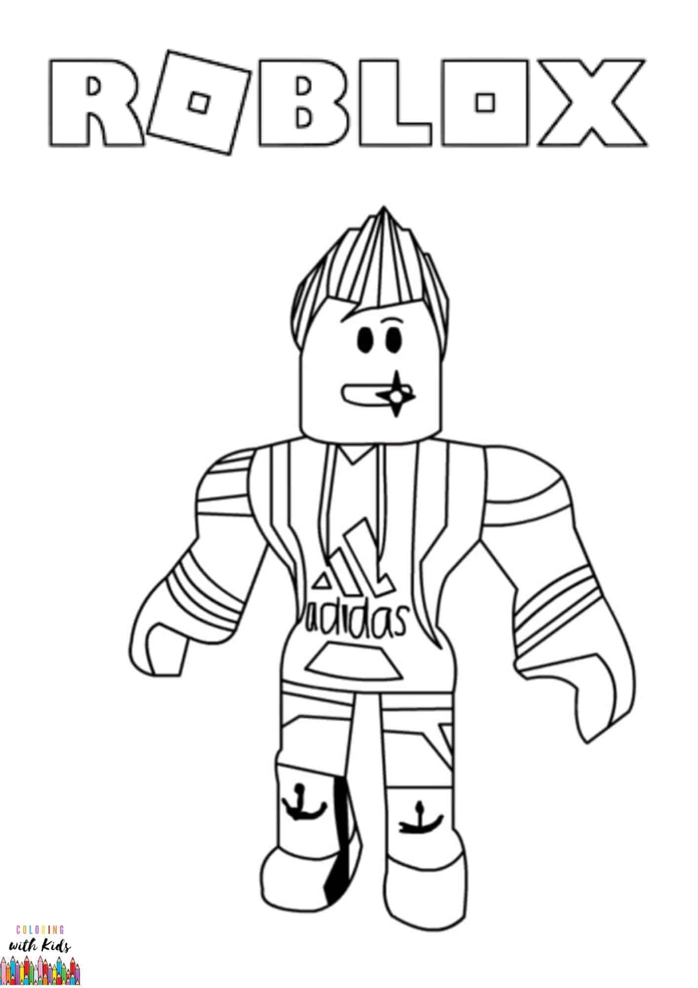 Roblox avatar drawing coloring page | coloringwithkids.com