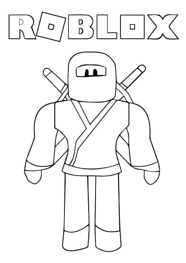 - Roblox Ninja Coloring Page Coloringwithkids.com