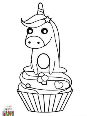 Unicorn on Cupcake