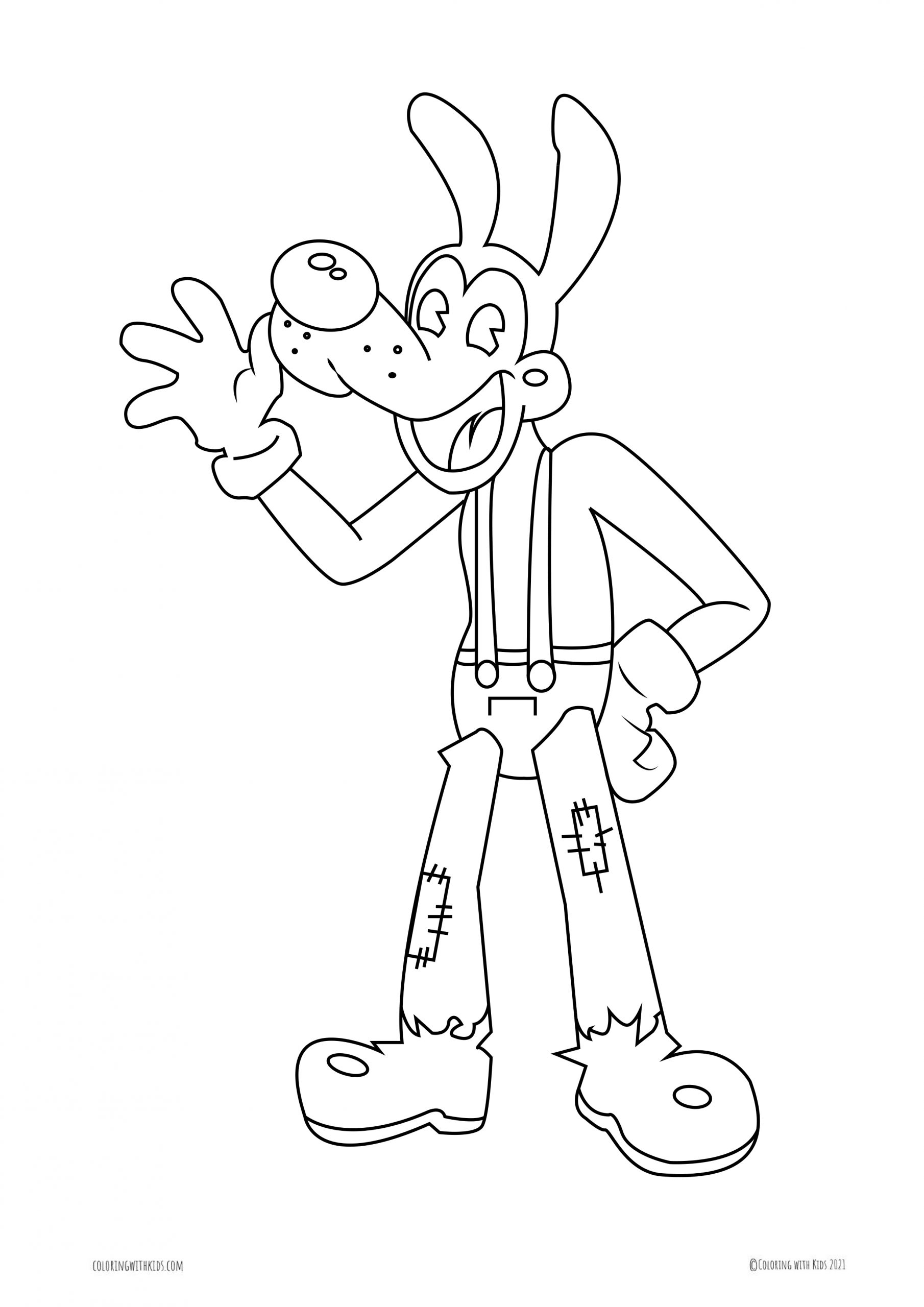Coloring Page Of Boris The Wolf   Coloring with Kids