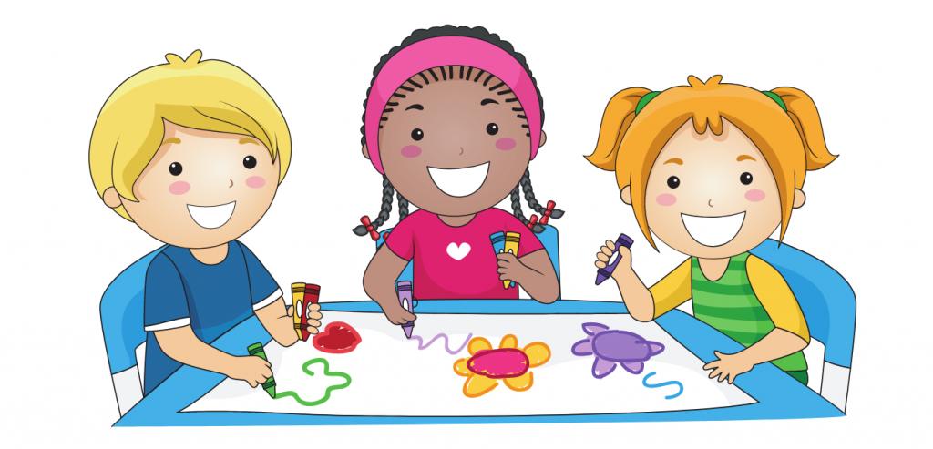 Colorear con niños imagen de cabecera de niños coloreando un libro para colorear