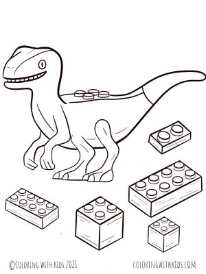 Dinosaur Lego Coloring Pages