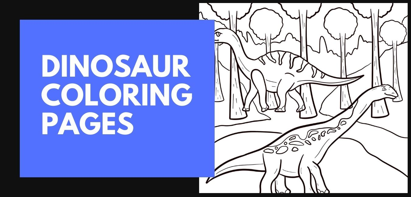 Dinosaur Coloring Pages blog post