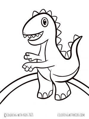 Easy Dinosaur Coloring Page