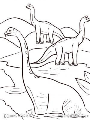 Full Page Dinosaur Coloring Page