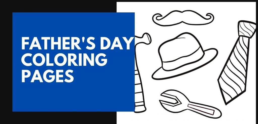 Fathers Day Coloring pages Featured Image