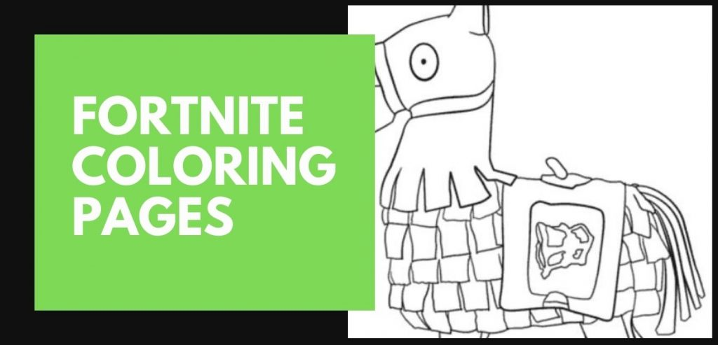 Fortnite Coloring Pages Blog Post