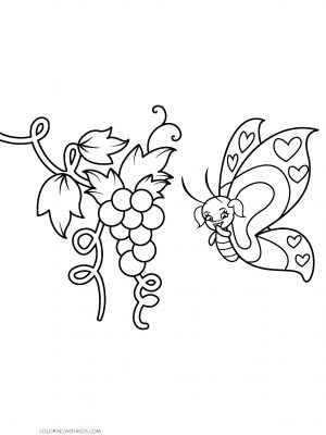 Girl Butterfly Coloring Page