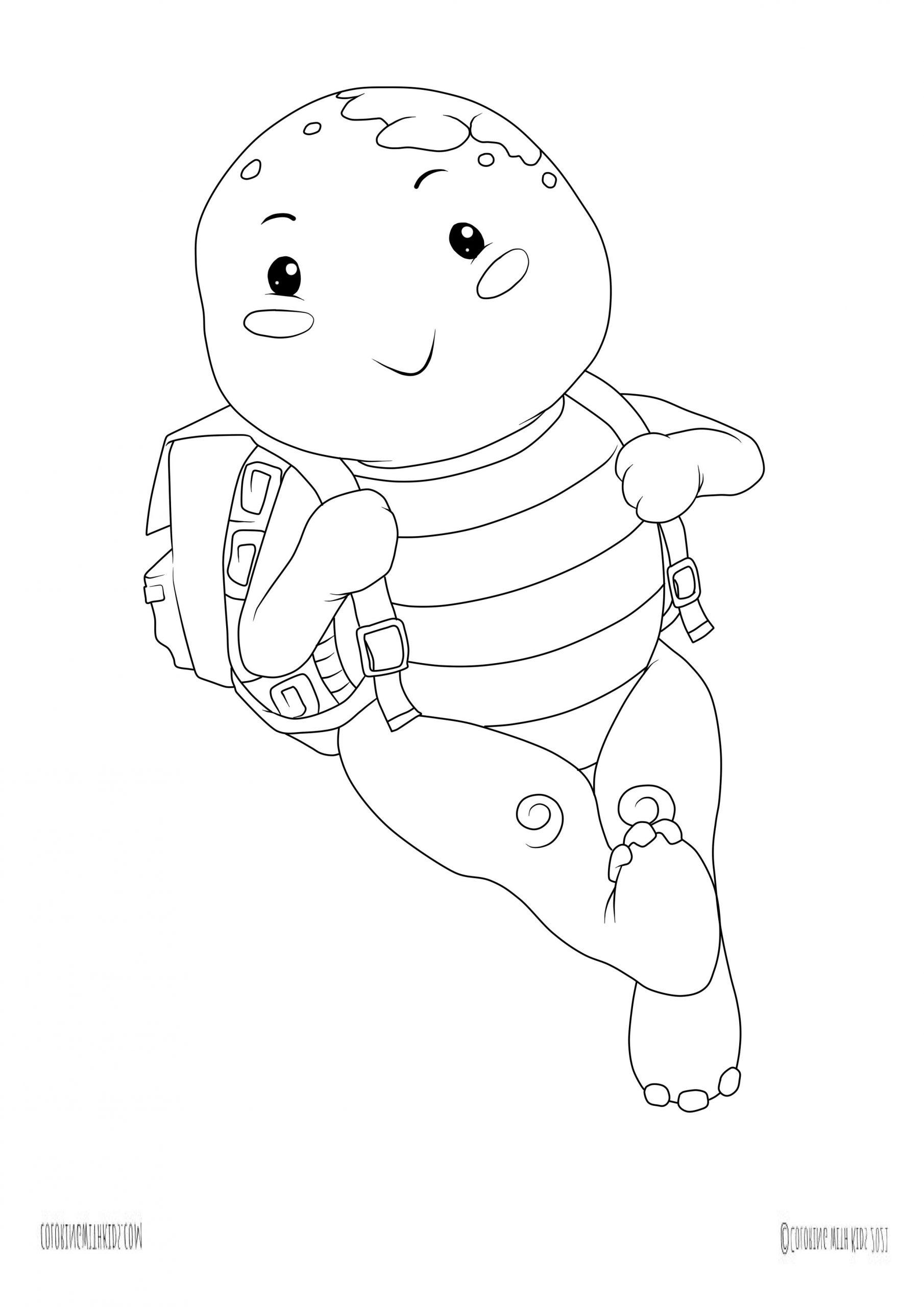 Kawaii Turtle Coloring page
