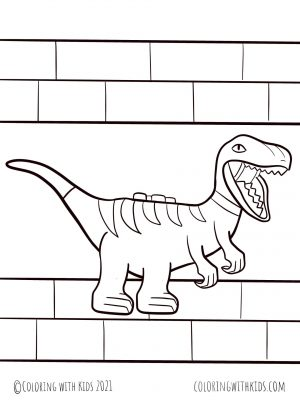 Lego Dinosaur Coloring Page