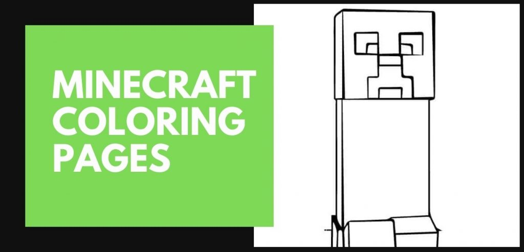 Mincraft Coloring pages blog post