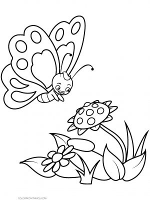 Preschool Butterfly Coloring Page