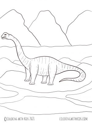 Realistic Dinosaur Coloring Page