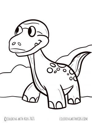 Simple Dinosaur Coloring Page