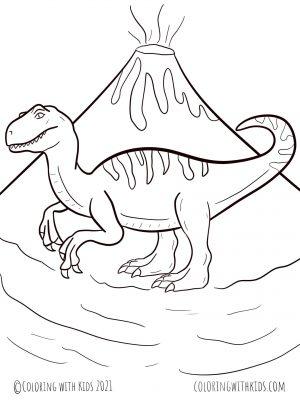 Tyrannosaur Coloring Page