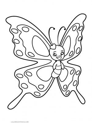Young Butterfly Coloring Page