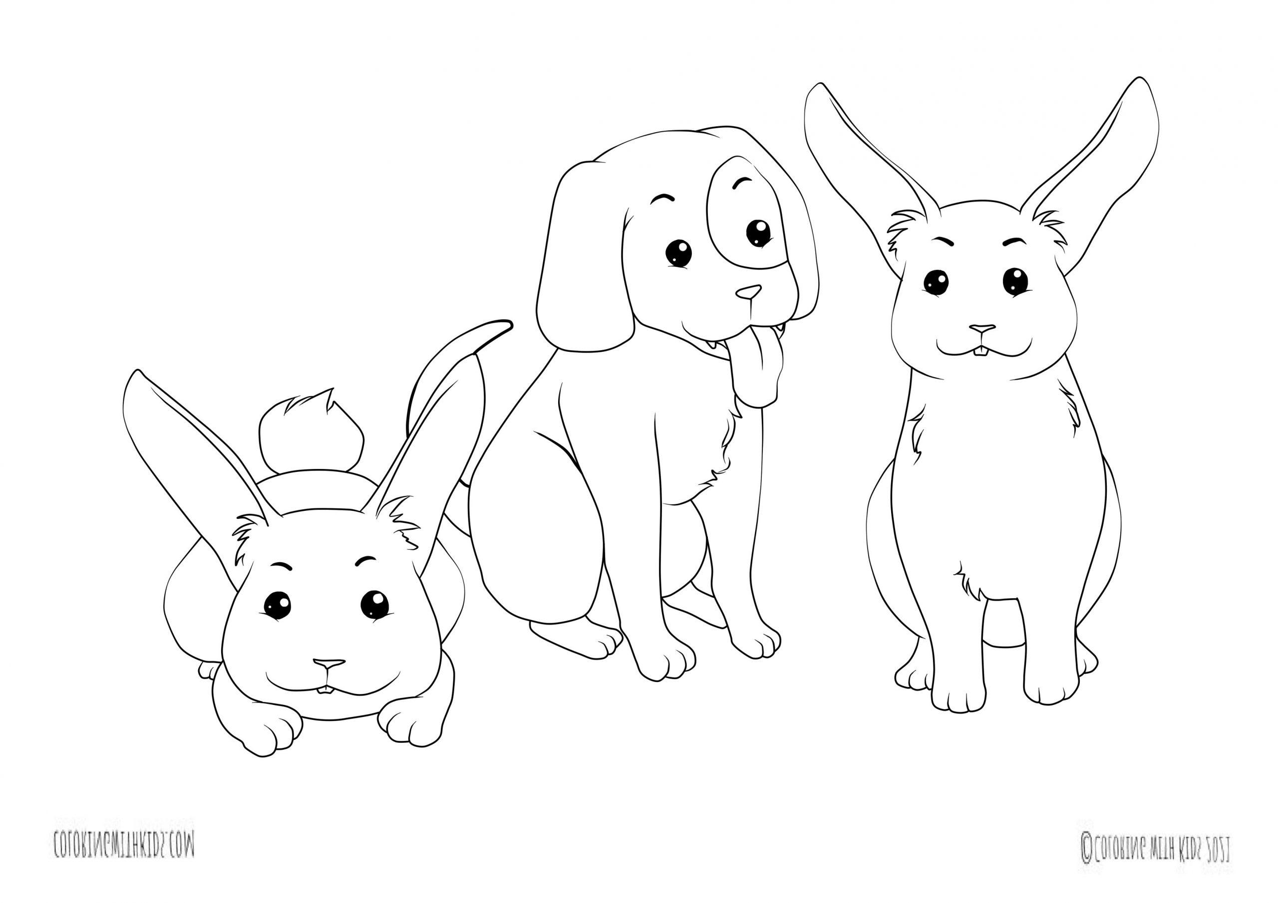 kawaii coloring pages animals
