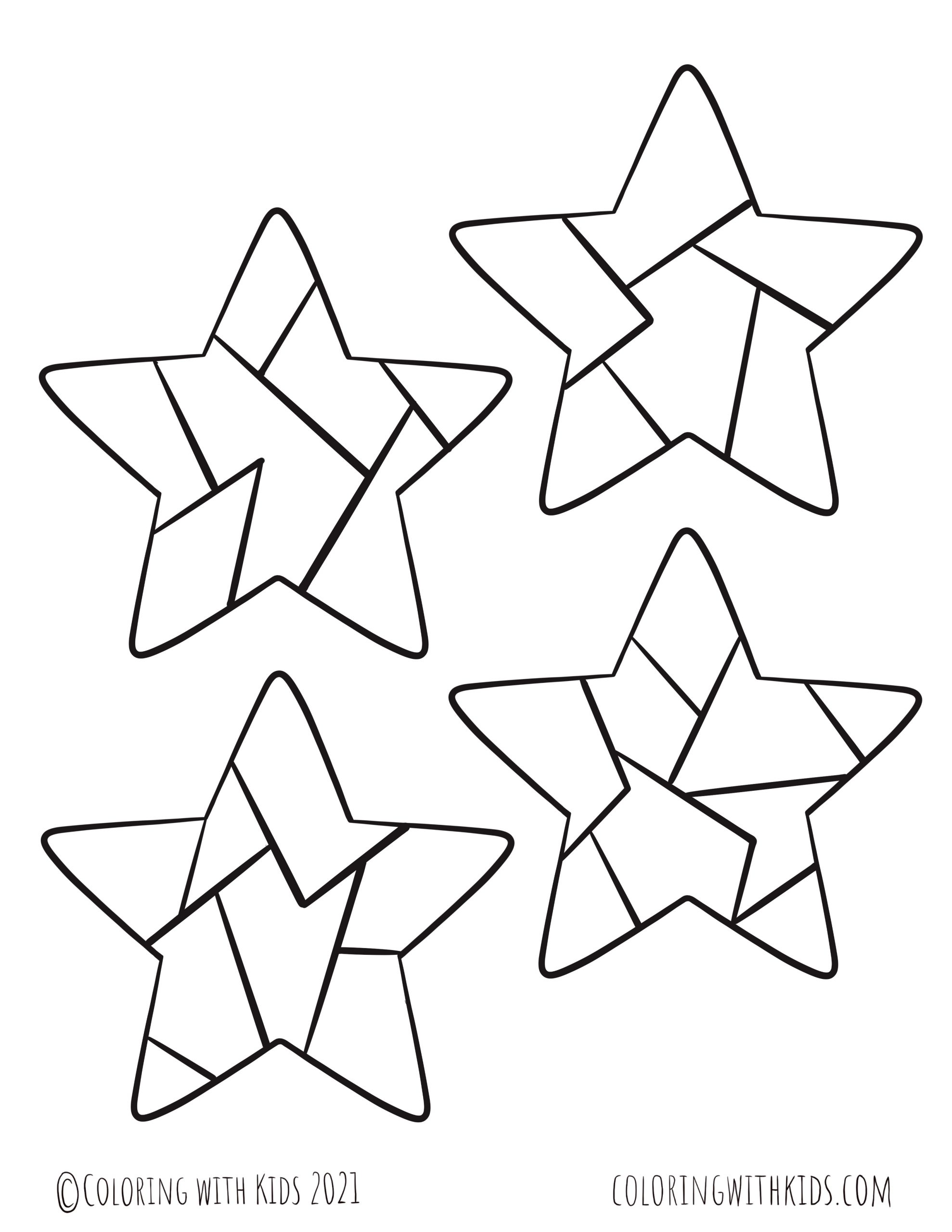 4 Inch Stars Coloring Page