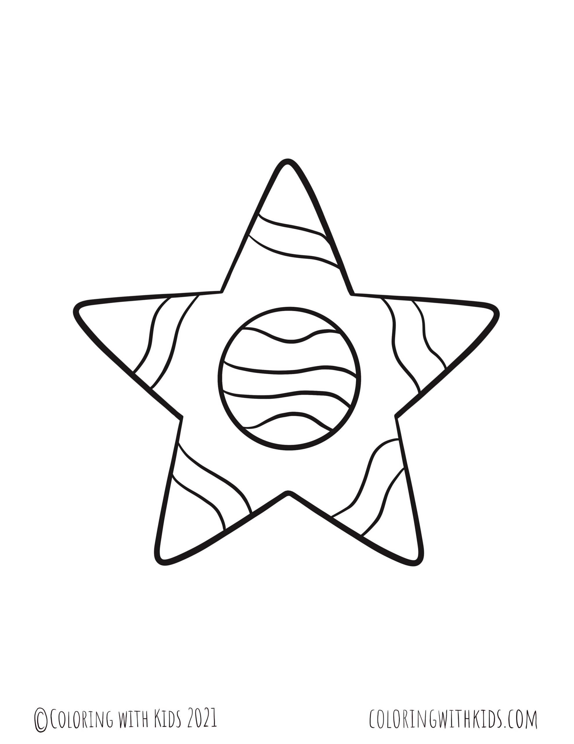 6 Inch Stars Coloring Page