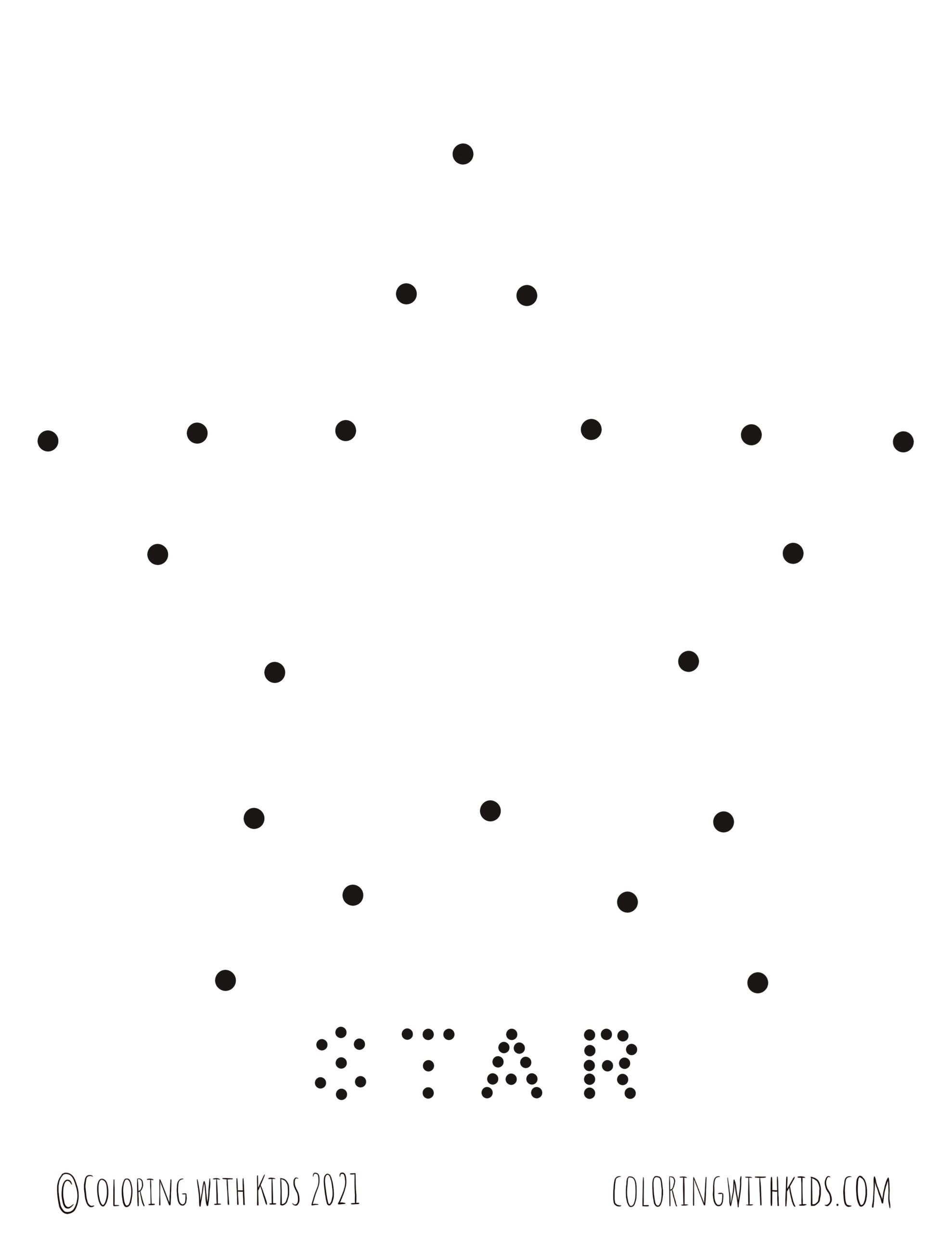 Connect the Dots Star Coloring Page