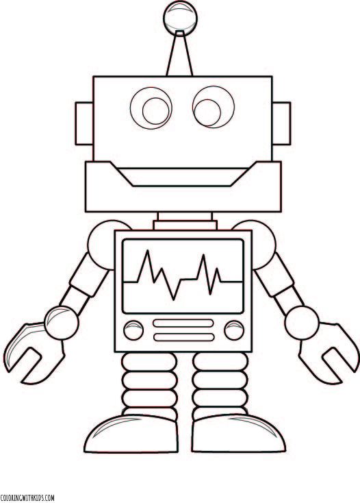 Cool Robot Coloring Page