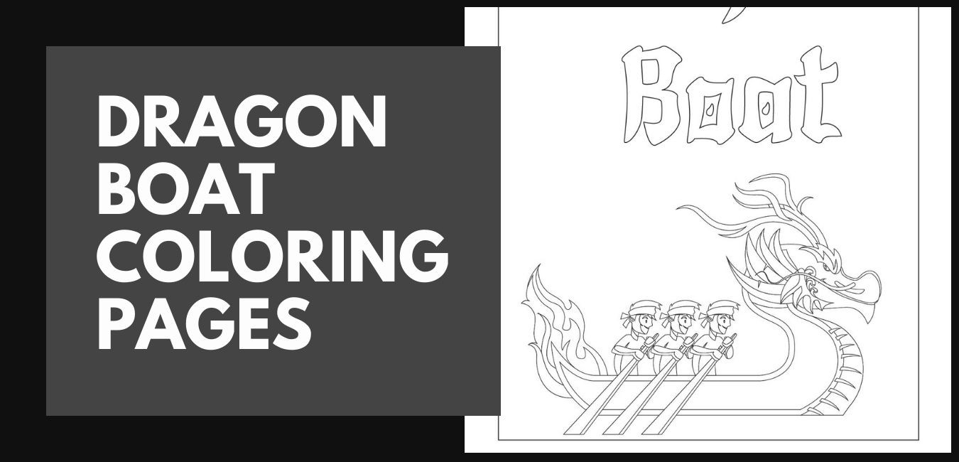 Dragon Boat Coloring Pages