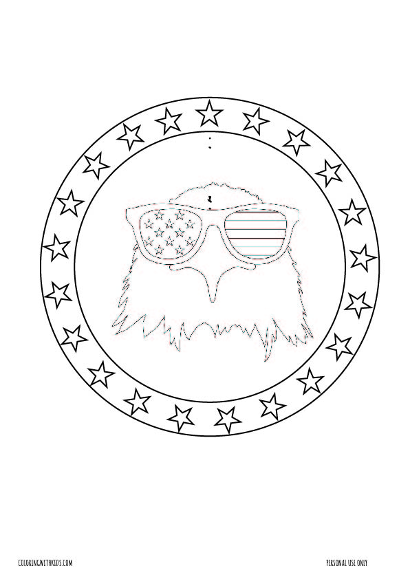Eagle Fourth of July Coloring pages