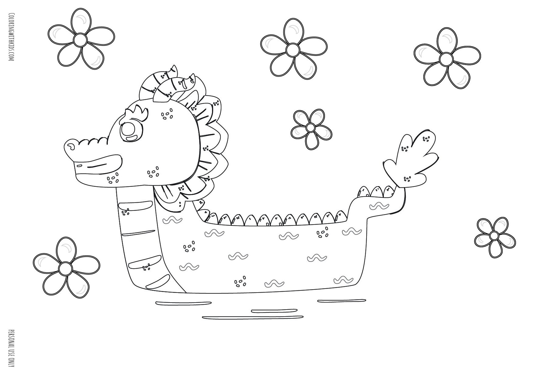 Easy Dragon Boat Coloring pages
