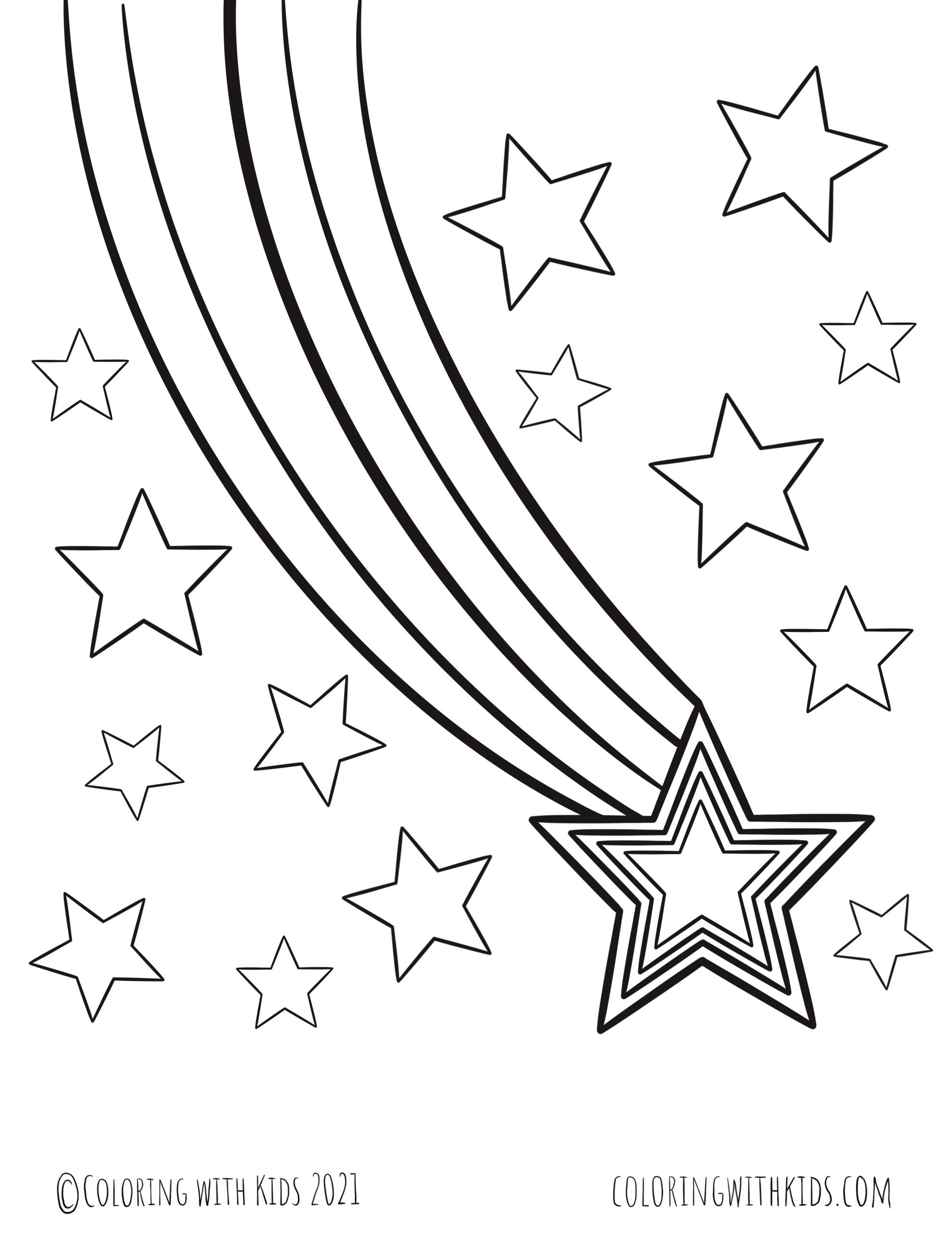 Falling Star Coloring Page