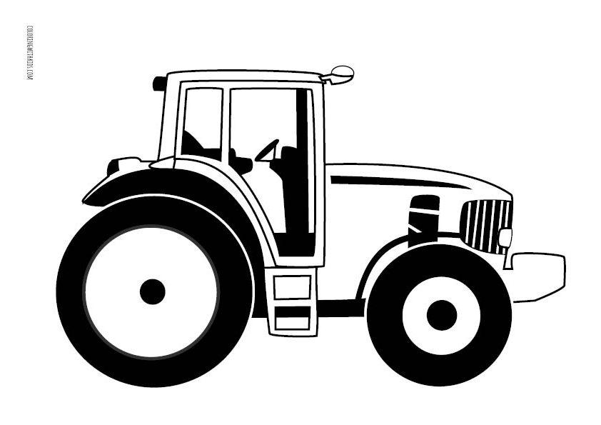 Farm Tractor Coloring Page