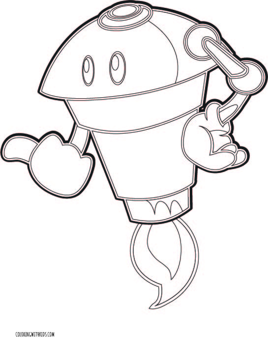 Flying Robot Coloring Page