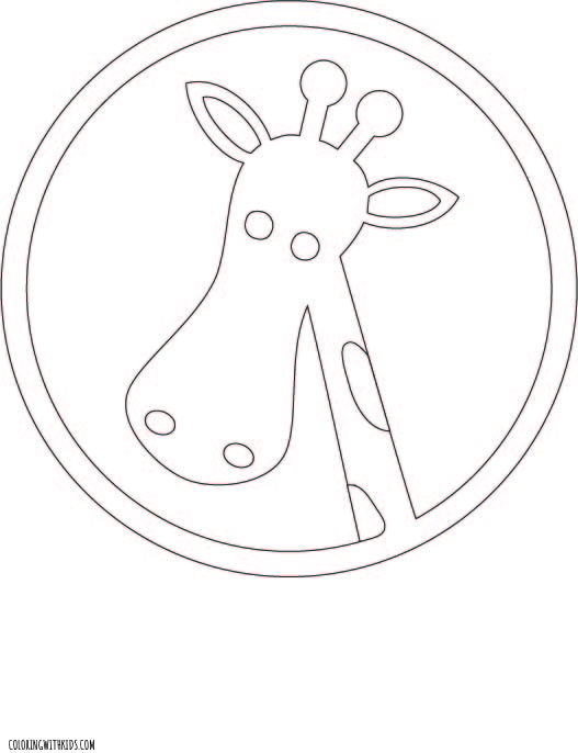 Giraffe simple Coloring Page