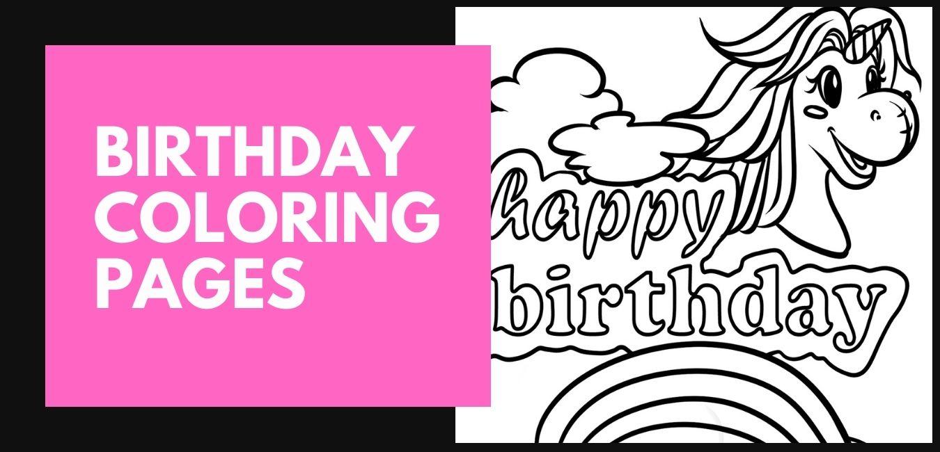 Grattis på födelsedagen färgsidor