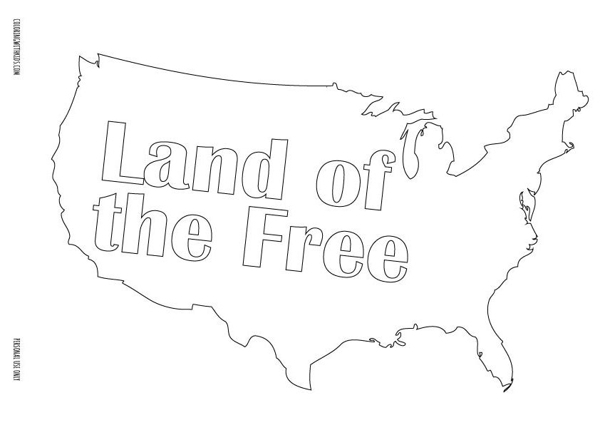 Land of the Free Coloring page