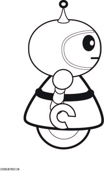 Little Robot Coloring Page