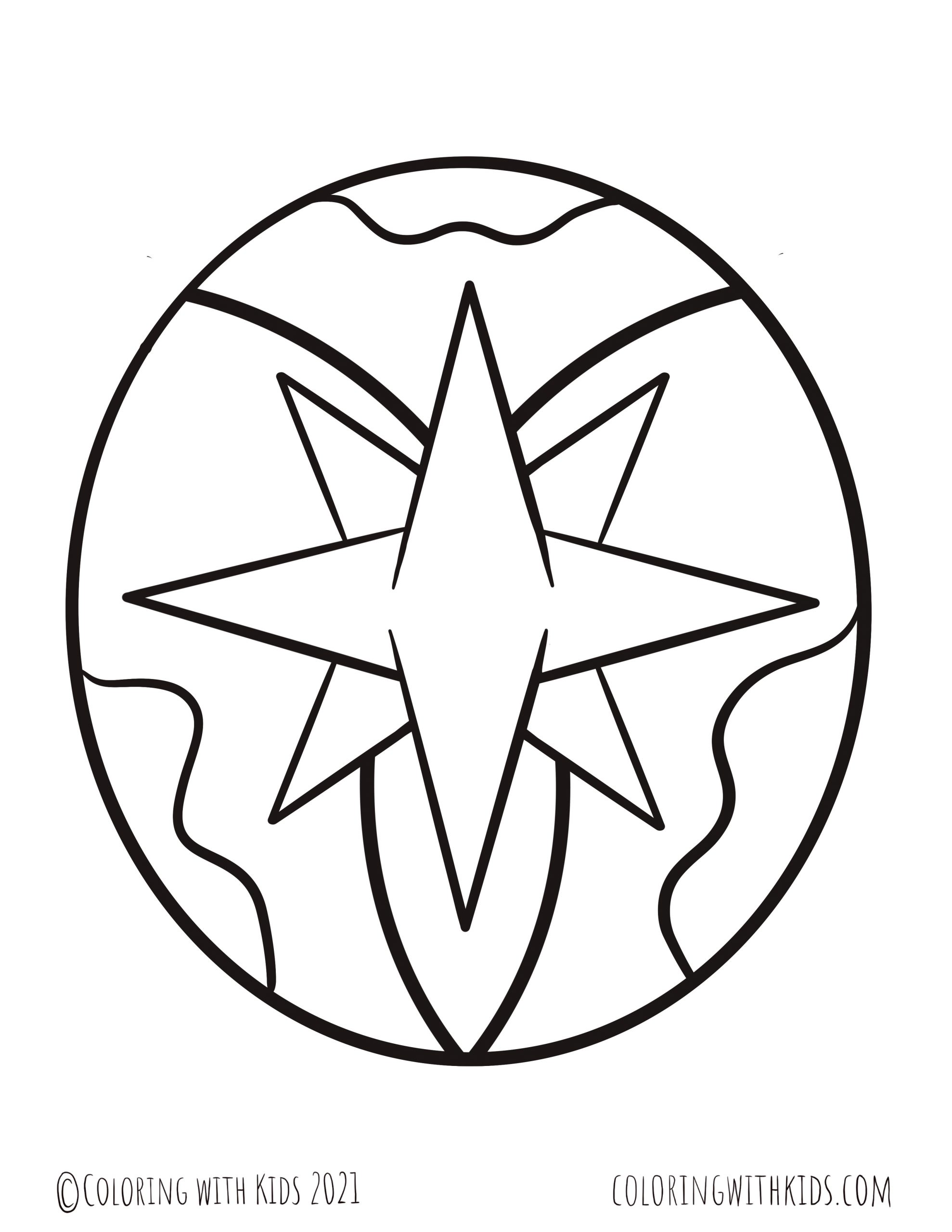 North Star Coloring Page