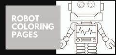 Páginas para colorear de robots