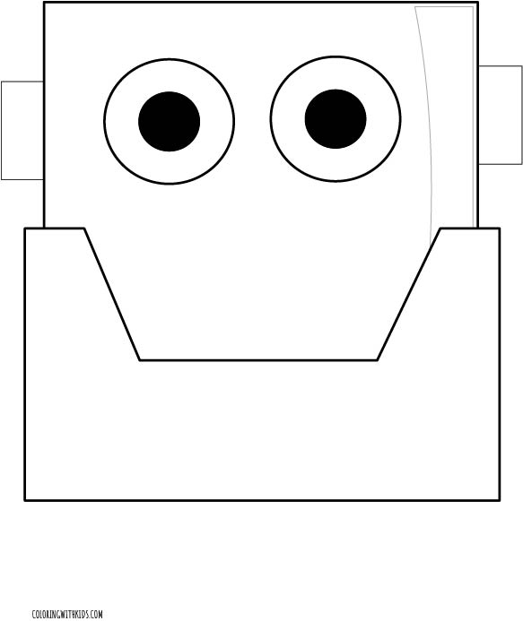 Robot Face Coloring Page