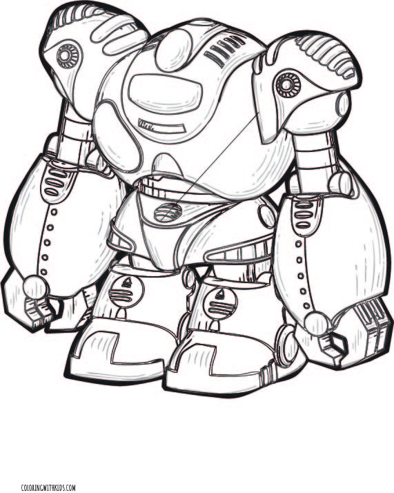 Robot android Coloring Page