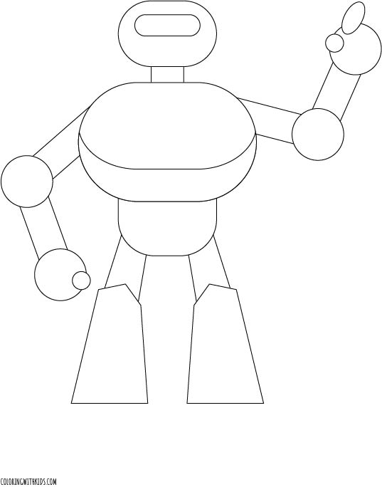 Robot dancing Coloring Page