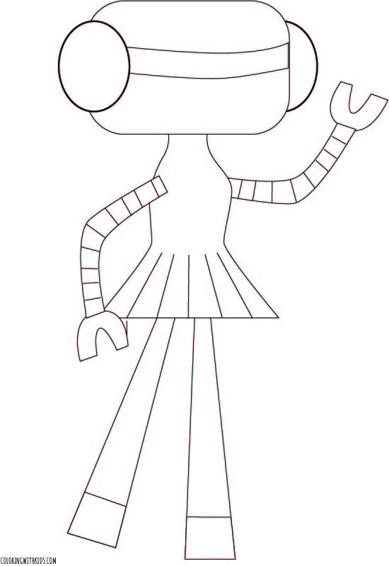 Robot girl Coloring Page