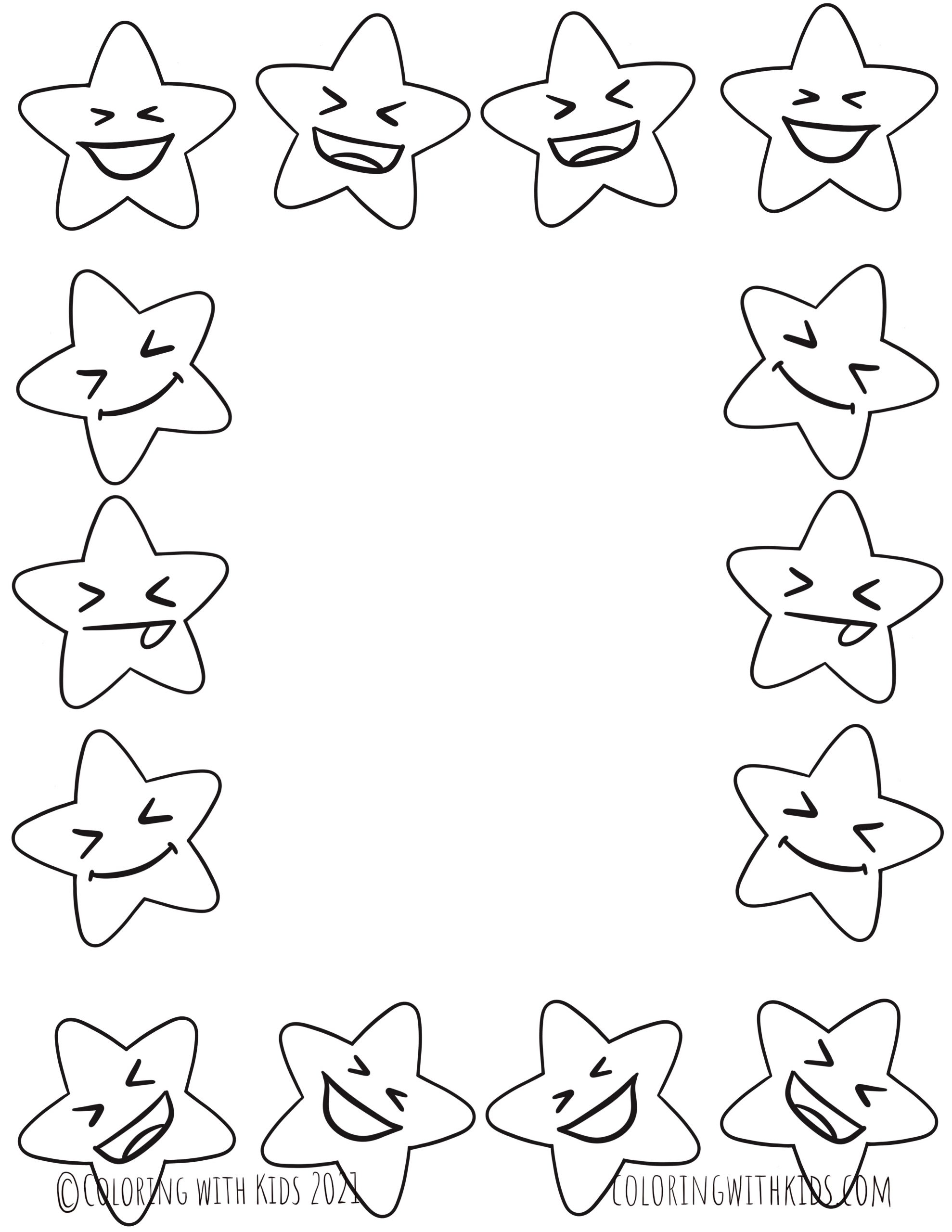 Star Coloring Page Border