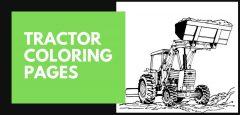 Páginas para colorear de tractores