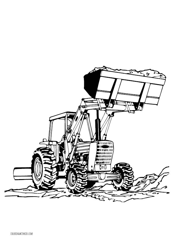 Tractor Working Coloring Pages
