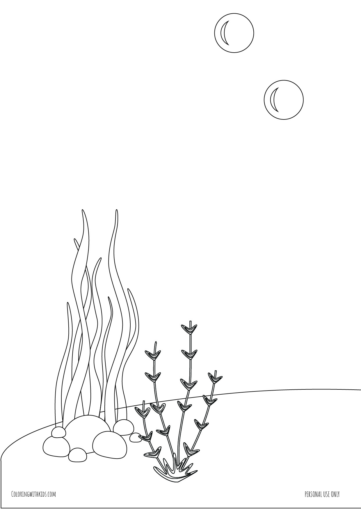 sea background coloring pages